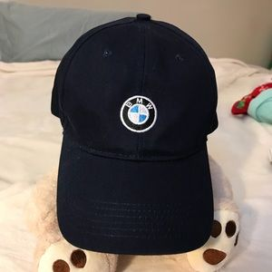 Navy blue bmw logo hat adjustable unisex